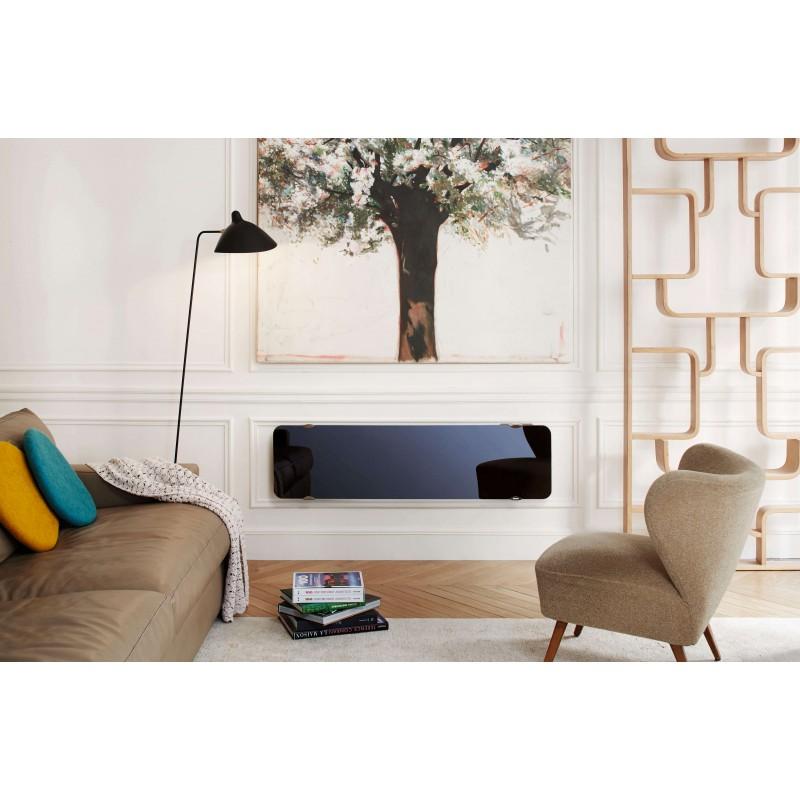 radiateur lectrique campa ultime 3 0 troit horizontal couleur noir astrakan 1200w. Black Bedroom Furniture Sets. Home Design Ideas