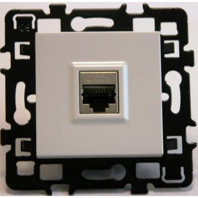Prise RJ 45 C.6 FTP GR. 1(TEL+LAN) + enjoliveur