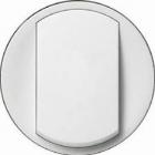 Enjoliveur large (interrupteur/va-et-vient/poussoir) blanc - Céliane