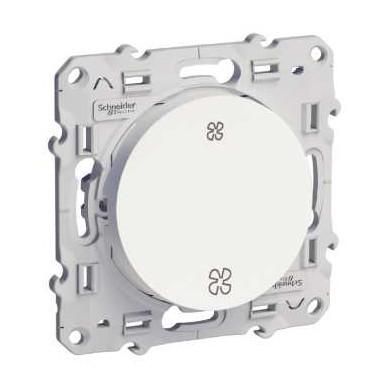 Interrupteur VMC Blanc, sans position arrêt, à vis, Odace