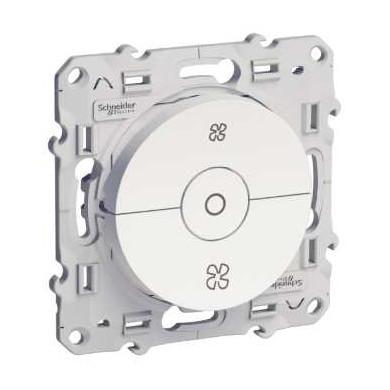 Interrupteur VMC Blanc, avec position arrêt, à vis, Odace