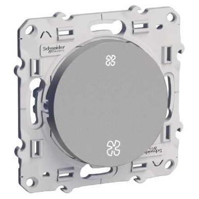 Interrupteur VMC Aluminium, sans position arrêt, à vis, Odace