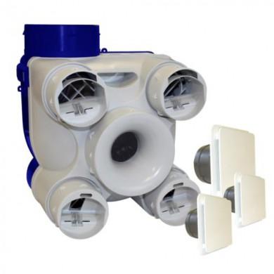 VMC simple flux autoréglable DECO 2 K avec bouches déco