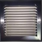 Grille aluminium de prise d'air façade 125mm