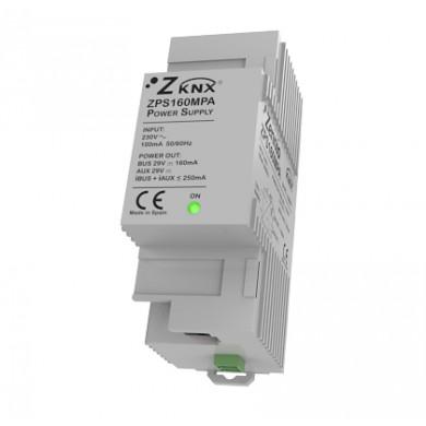 Alimentation KNX 160mA avec alimentation auxiliaire 29VDC.Vin:230VAC