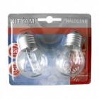 Lot de 2 ampoules halogène sphérique Eco 42W - E27