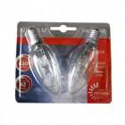 Lot de 2 ampoules halogène flamme Eco 42W - E14