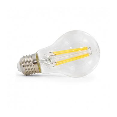 ampoule à filament led bulbe E27 6W 2700°K claire